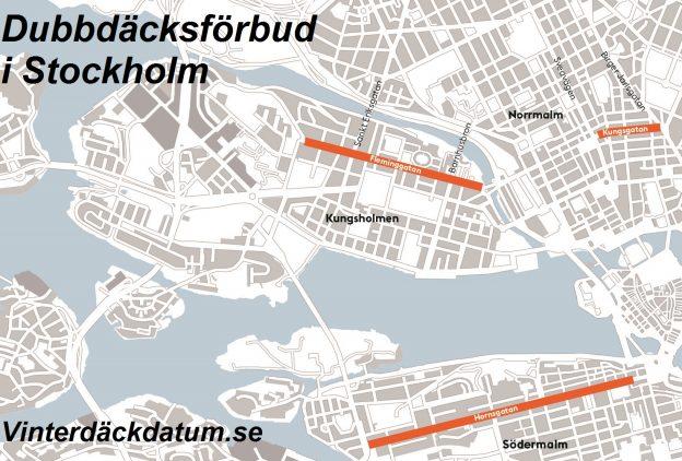 dubbdäcksförbud Stockholm